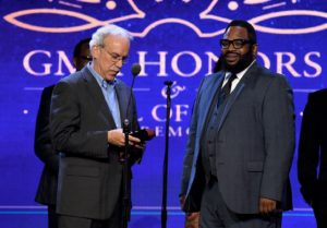"""""""NASHVILLE, TN - MAY 10:  President, Gospel Music, Capitol Christian Music Group, Ken Pennell presents an award to Recording Artist Hezekiah Walker onstage during the 3rd Annual GMA Honors on May 10, 2016 in Nashville, Tennessee.  (Photo by Jason Davis/Getty Images for GMA)"""""""