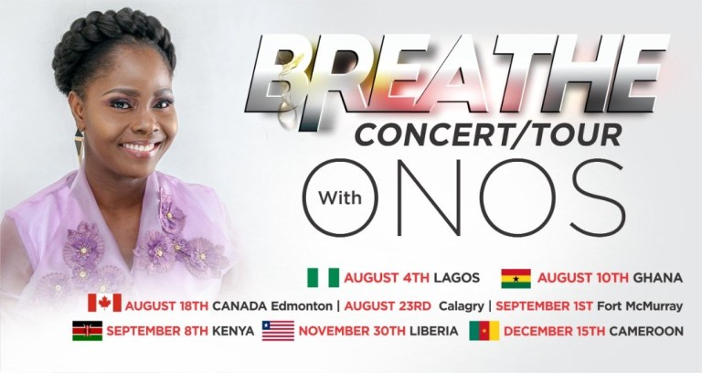 Onos Ariyo's Breathe Concert Tour [Dates & Location