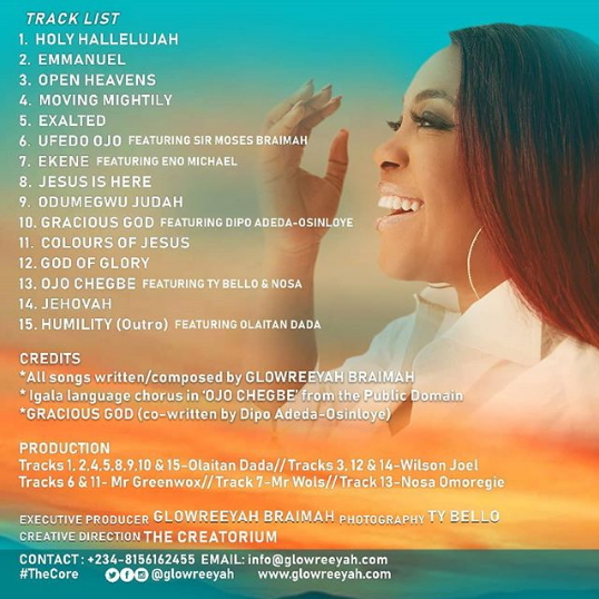 Glowreeyah The Core Tracklist