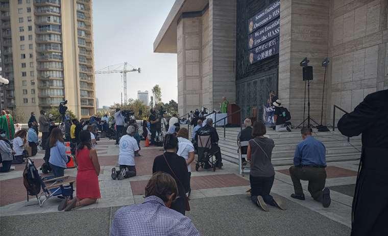 SAN FRANCISCO CATHOLICS PROTEST CORONA-VIRUS RESTRICTIONS