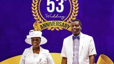 THE ADEBOYES CELEBRATE 53RD WEDDING ANNIVERSARY