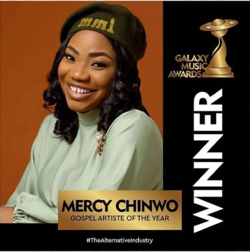 MERCY CHINWO WINS GALAXY MUSIC AWARDS